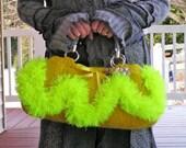 Mean Mr. Mustard - A Felted Handbag, Oblong Shaped, Mustard Yellow