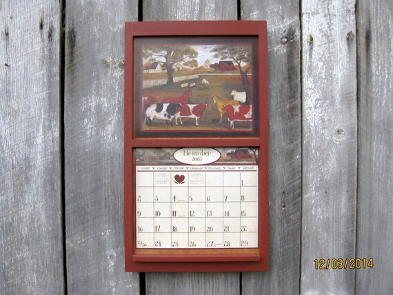 Calendar Wooden Frame : Ready to ship wood frame calendar holder square