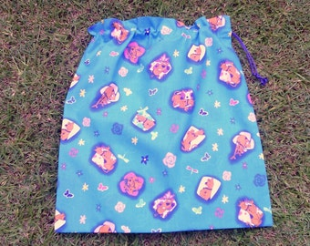 Scooby Doo large cotton drawstring bag for library, toys, kindy sheets