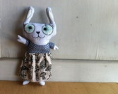 Featured on stuffed magazine spring 2015 r -Hand painted art doll - Ashley the loving cat