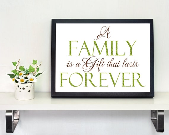 Family Wall Decal Living Room Decoration A Family is a Gift that lasts Forever Photo Wall Decal Vinyl Picture Lettering Family Quote Sticker