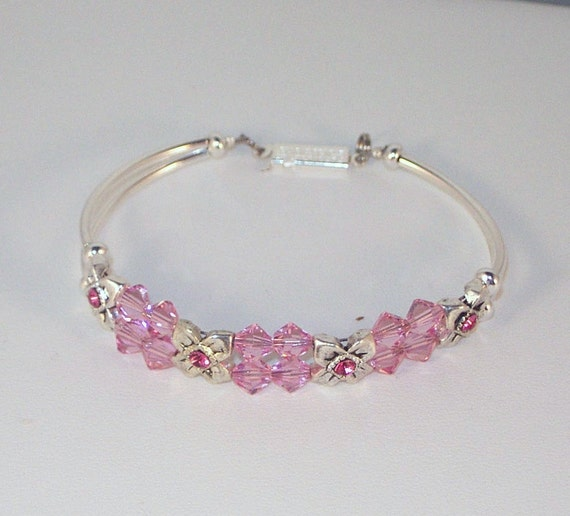 Swarovski Crystal Bridal Bracelet - Bride Bridesmaids Maid of Honor - Any Color - SHIPS WITHIN 24 HRS