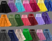 "Chiffon/Tricot Petticoat... Great touch for your Cotton Halter dress sold in my shop... Any waist size 18"" to 38""..."