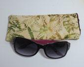 Pot leaf Sunglass case - Eyeglass case - Mary Jane case - 420 Case - Batik Pot leaf Case