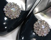 Shoe Clips AB Rhinestone Cluster Round Prom Wedding Jewelry for your Shoes 1 Pair Shoeclips