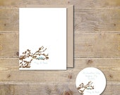 Wedding Thank You Cards . Personalized Wedding Thank You Cards . Thank You Card Set . Bridal Shower - Love Birds