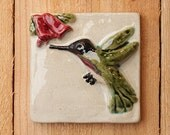 "4x4"" Hummingbird ceramic tile"
