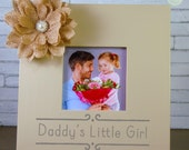 Daddy's Little Girl, Father's Day Gift, Brother, Uncle Picture Frame, birthday gift, keepsake, personalized family gift by Rusty Cricket