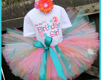 2yrs, Ready to Ship, 2rd  Birthday, Im The Birthday Girl, Party Outfit, Tutu Set,