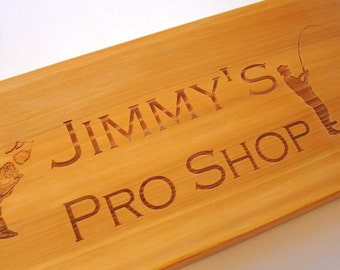 Custom Engraved Cedar Sign Laser Engraved Wood Sign Personalized Rustic Store Sign