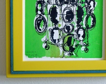 CAMEOS #046 | fresh fun family portraits | bright green and black | fine art print by Kathryn DiLego