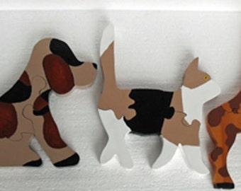 Wooden Children's Puzzles, Animal puzzle