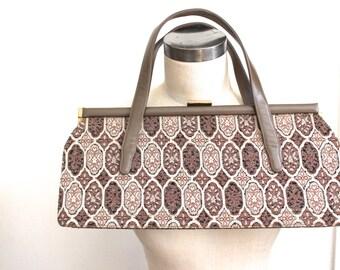 vintage oversized tapestry purse.