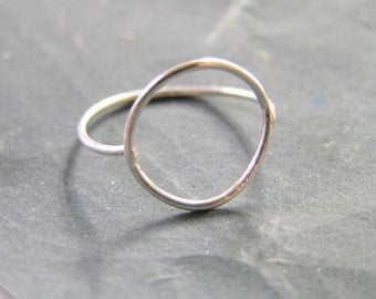 Circle Sterling Silver Ring.Halo Ring. Eco friendly ring.