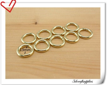 1/2 inch (12mm) Light gold  purse metal O rings  purse ring connector 18 pieces AT35