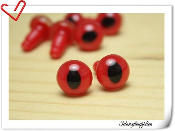 10 mm red olive Safety eye amigurumi eye doll eyes cat eye