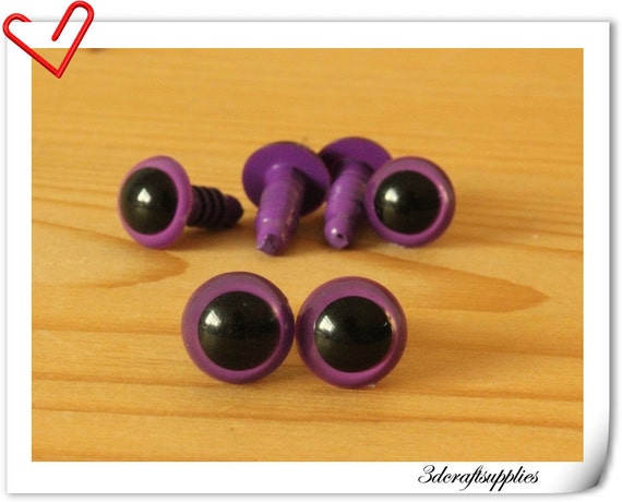 Safety Eyes Amigurumi Malaysia : 10 mm dark Purple Safety eye amigurumi eye doll eyes cat eye