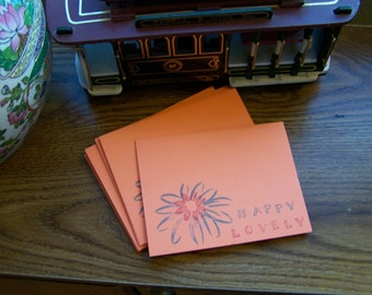 happy lovely blank card set
