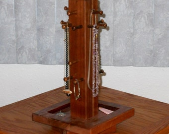 Jewelry tree Necklace display - Mahogany - 14081