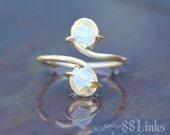 Opal Toe Ring October Birthstone Crystals