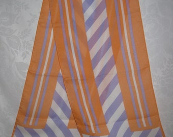 Long Chiffon Scarf Opposites Attract Vintage 80s