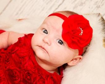 Michaela Chiffon Elastic Baby Headband