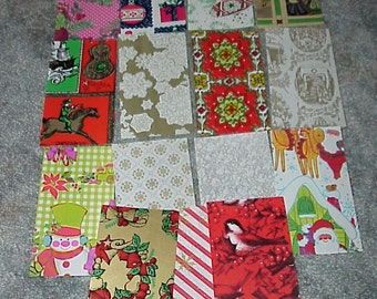 Vintage--Christmas Gift Wrap--Paper Samples--15 In All