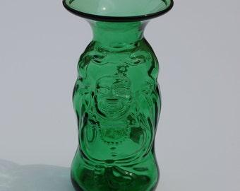 Lucky Buddha Fluted Vase