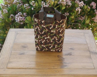 Dog Accessory Tote in a Camouflage Dog Bone Print