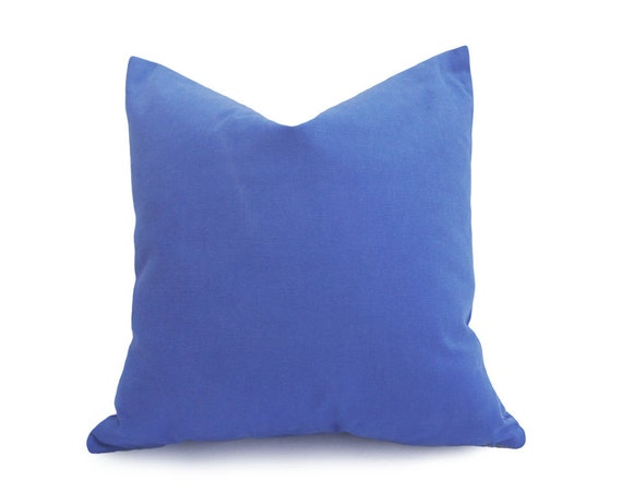 Solid Blue Pillow Covers Medium Blue Throw Pillows Violet