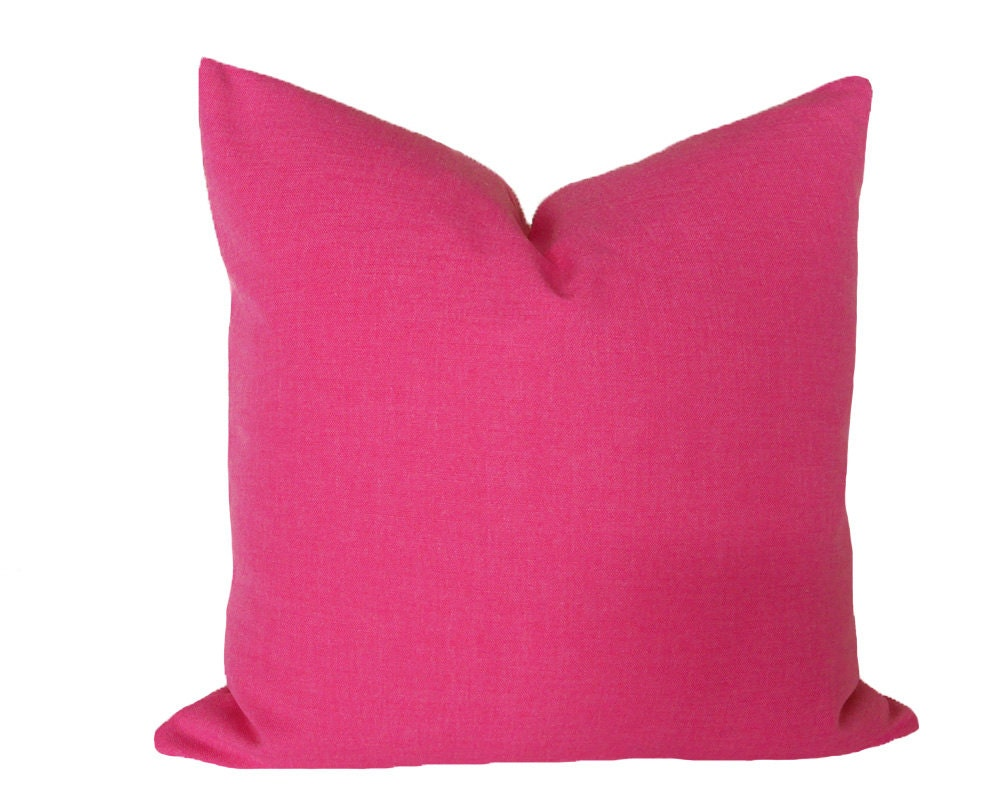 Pink Decorative Pillow Covers : Decorative Pink Pillow 12x18 Solid Pink Pillow Cover Bubble