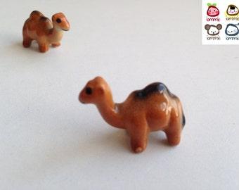 Miniature Camel, camel, Little, brown, Ceramic camel, decoration, mini, small, little, tiny, farm animal, tiny, figurine, cute, kawaii
