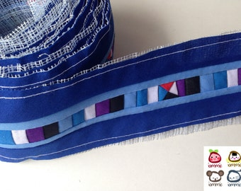 Hmong fabric, Blue, Hmong Textile, Lisu Textile, quilt, fabric, Thai hill tribe, Hmong, Lisu fabric, Sewn, Crafting, textile, quilted