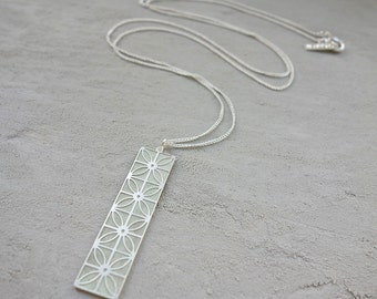 Long Jaffa Necklace, signature necklace, Architectural design, Geometric Design