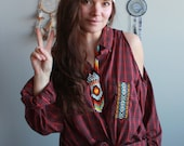 Red Plaid Native Tribal T...