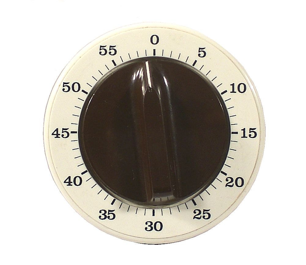 Round Vintage Retro 60 Minutes Kitchen Timer Clock Stopper