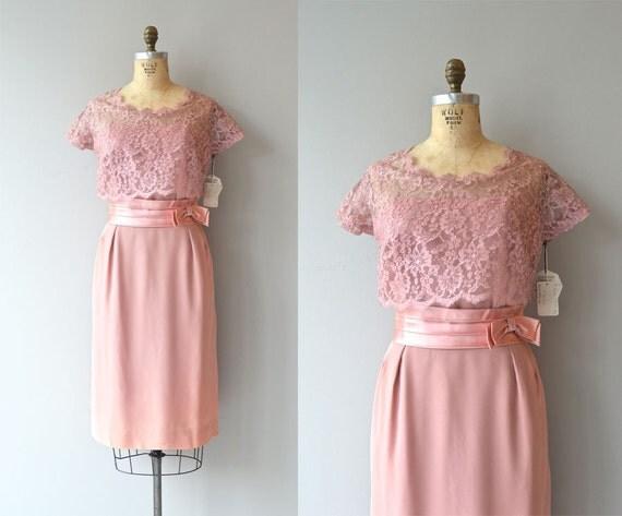 g stetoilette kleid vintage 50er jahre kleid rosa spitze. Black Bedroom Furniture Sets. Home Design Ideas