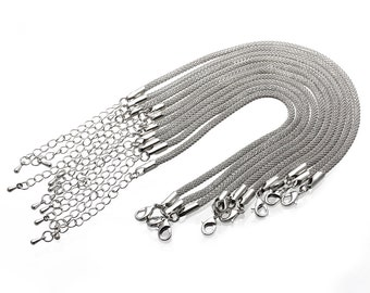 10x White K Bracelet Bangle Chain Link for Jewelry Making Crafts   J158