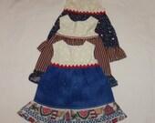 18 Inch Doll Dress, Americana Sundress, 15 Inch Doll, Ruffle Sun Dress, American Made, Girl Doll Clothes