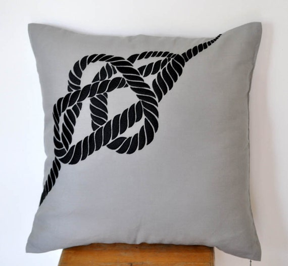 Nautical Rope Pillow Cover Decorative Pillow Cover by KainKain