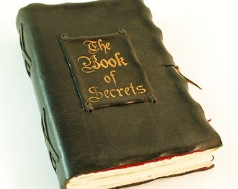 The Book of Secrets,Black Leather Journal genuine leather