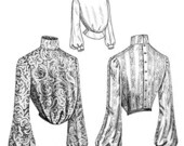 Truly Victorian Romantic 1903 Ladies Blouse Waist Sewing Pattern