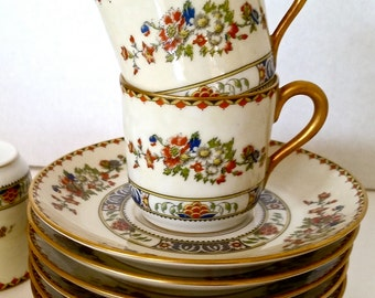 Antique Limoges Demitasse Set of 6