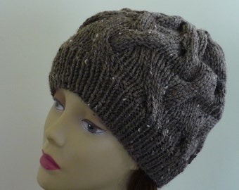 Cable Knit Hat - Soft Wave Cables in Barley - Ready to Ship - Direct Checkout