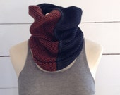 The Union Menswear Cowl in Charcoal Ember