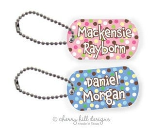 CARNIVAL PINK or BLUE Mini lunchbox tags - set of 2