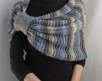 Sale 20% Hand Knit Wrap, Shrug, Caplet,Bolero, Shawl, Bridesmaids Wrap, Free shipping