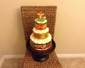 Woodland baby shower diaper Cakes Baby Shower Centerpieces in other colors and sizes too