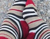Trenchcoat Coordinating heel & toe - Self-striping sock yarn
