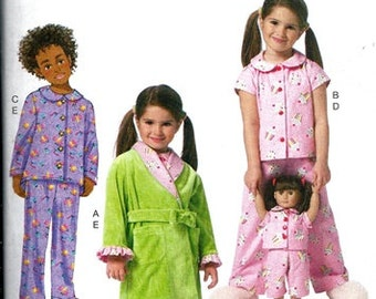 MATCHING PAJAMA PATTERN / Girl and American Girl Doll Pjs